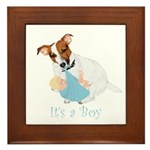 Jack Russell, It's A Boy Gifts Framed Tile