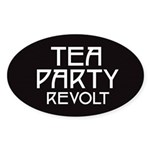 Tea Party Revolt 2010 Sticker (Oval 50 pk)