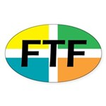 FTF oval sticker