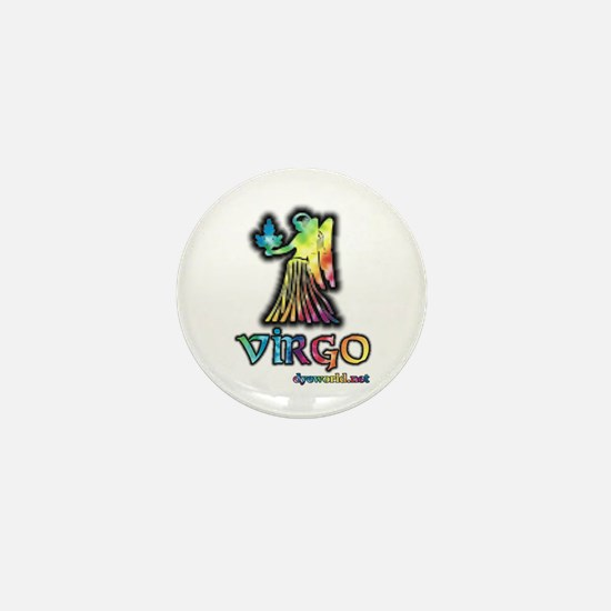 Zodiac Sign Virgo Mini Button