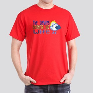 The Devil's Beating His Wife Dark T-Shirt