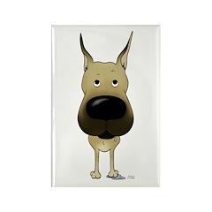 Big Nose Great Dane Rectangle Magnet (10 pack)