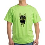 Big Nose German Shepherd Green T-Shirt