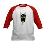 Big Nose German Shepherd Kids Baseball Jersey