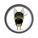 Big Nose German Shepherd Wall Clock