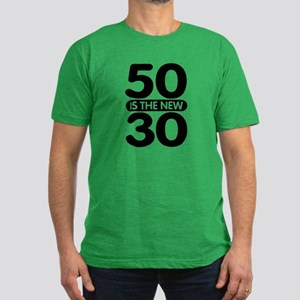 50 is the new 30 Men's Fitted T-Shirt (dark)