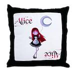Alice in Wanderland Throw Pillow
