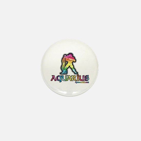 Zodiac Sign Aquarius Mini Button