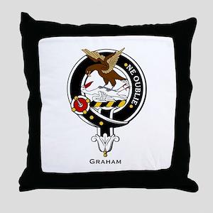 Graham Clan Crest Badge Throw Pillow