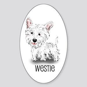 Westhighland White Terrier Oval Sticker