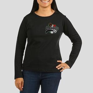 Mexico Soccer Women's Long Sleeve Dark T-Shirt