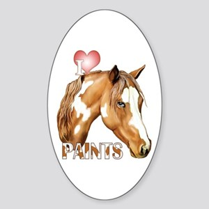 I Love Paints Sticker (Oval)