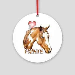 I Love Paints Ornament (Round)