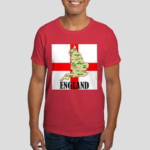 England Map Dark T-Shirt