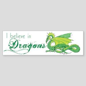 I Believe in Dragons Sticker (Bumper)