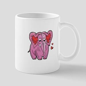 Cute Valentine Heart Elephant Mug