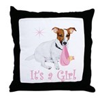 It's a Girl Throw Pillow