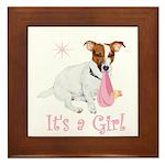 It's a Girl Framed Tile