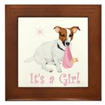 It's a Girl Framed Tile