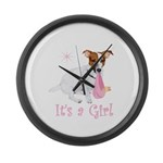 It's a Girl Large Wall Clock