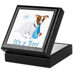 Jack Russell, It's A Boy Gifts Keepsake Box