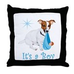 Jack Russell, It's A Boy Gifts Throw Pillow