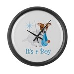 Jack Russell, It's A Boy Gifts Large Wall Clock