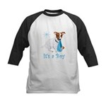 Jack Russell, It's A Boy Gifts Kids Baseball Jerse