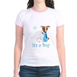 Jack Russell, It's A Boy Gifts Jr. Ringer T-Shirt