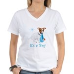 Jack Russell, It's A Boy Gifts Women's V-Neck T-Sh