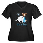 Jack Russell, It's A Boy Gifts Women's Plus Size V