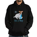 Jack Russell, It's A Boy Gifts Hoodie (dark)