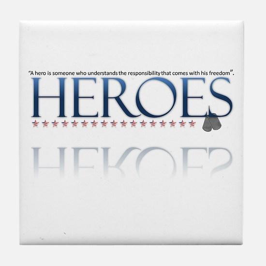 hero/stars Tile Coaster
