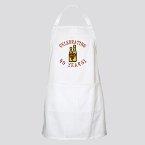 40th Anniversary Wine Bow Apron