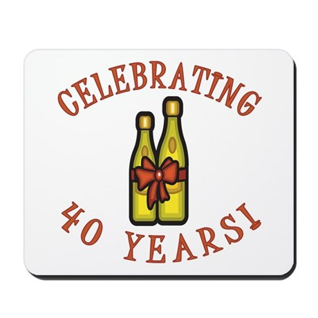 40th Anniversary Wine Bow Mousepad