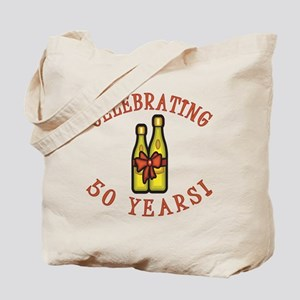 50th Anniversary Wine Bow Tote Bag