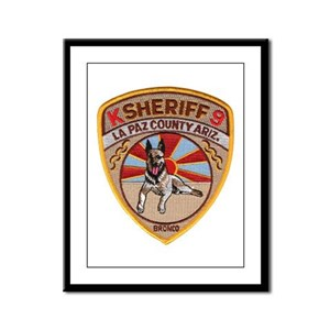 La Paz County Sheriff K9 Framed Panel Print
