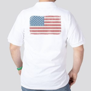 Vintage American Flag Golf Shirt