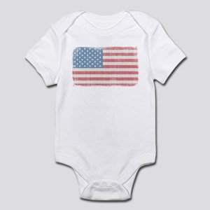Vintage American Flag Infant Bodysuit