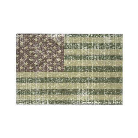 Camo American Flag [Vintage] Rectangle Magnet (100