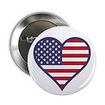 American Flag Heart 2.25