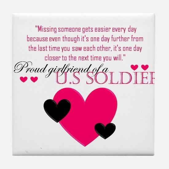 US,soldier Tile Coaster