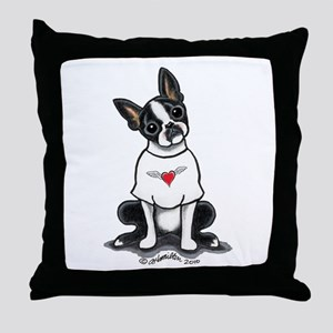 Boston Rocker T Throw Pillow