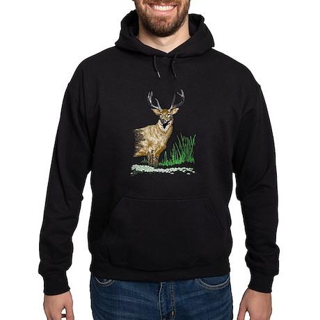 Deer with Antlers Hoodie (dark)