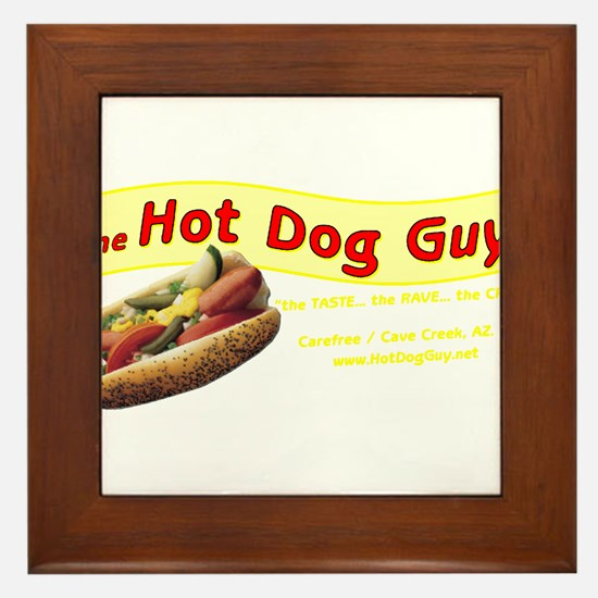 Unique Hot dog Framed Tile