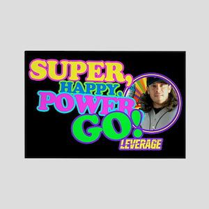 Super Happy Power Go Rectangle Magnet