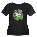 Post Time Women's Plus Size Scoop Neck Dark T-Shir