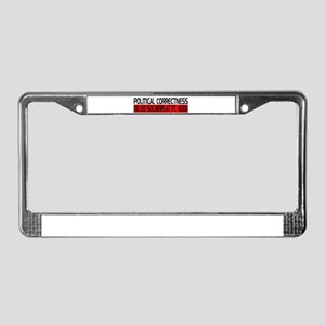 Political Correctness Kills License Plate Frame