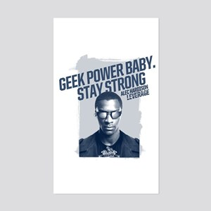 Geek Power Sticker (Rectangle)
