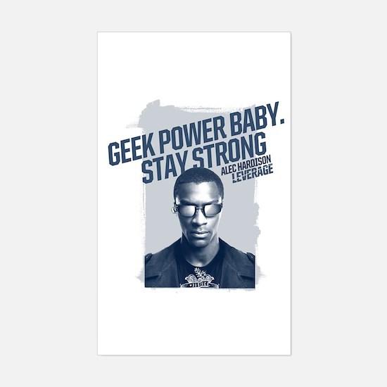 Geek Power Sticker (Rectangle)